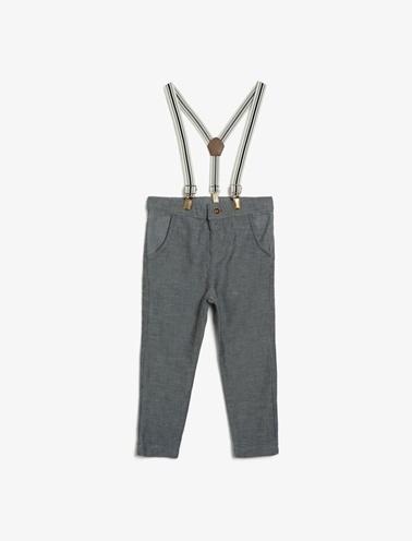 Koton Kids Kemer Detaylı Pantolon Gri
